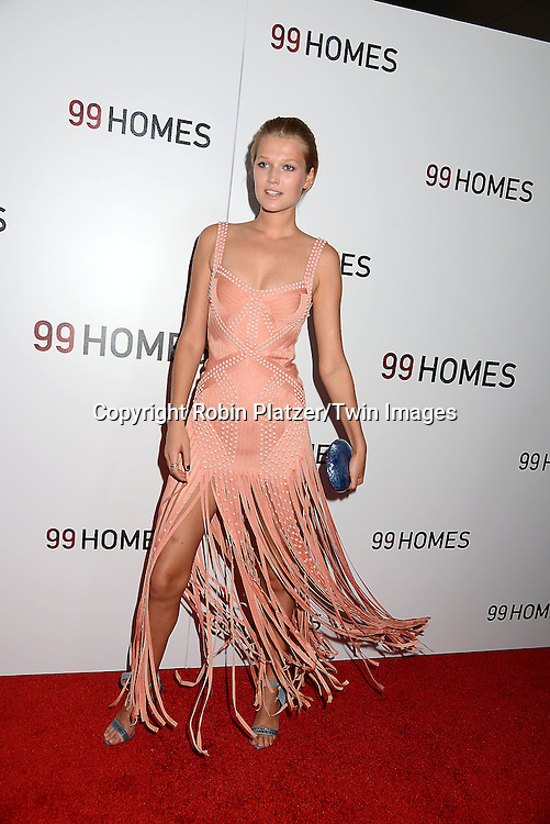 Toni Garrn attends the New York Premiere of &quot;99 Homes&quot; on September 17, 2015 at AMC Loews Lincoln Square in New York City, New York, USA.<br /> <br /> photo by Robin Platzer/Twin Images<br />  <br /> phone number 212-935-0770