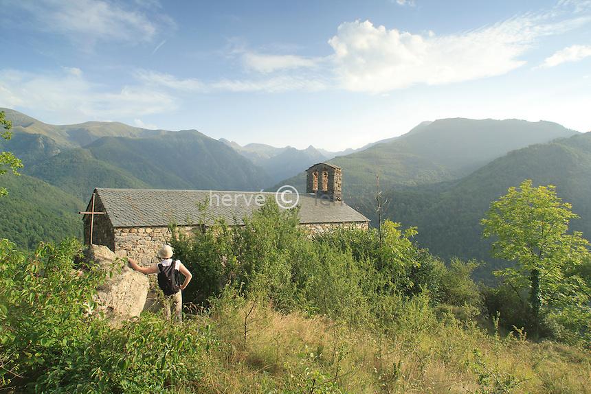 France, Ariège (09),vallée de Vicdessos, Gestiès,  chapelle Saint-Nicolas // France, Ariege, Vicdessos valley, Gesties,  chapel Saint-Nicolas
