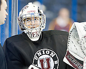 Dillon Pieri (Union - 31) - The Union College Dutchmen practiced on Wednesday, April 4, 2012, during the 2012 Frozen Four at the Tampa Bay Times Forum in Tampa, Florida.