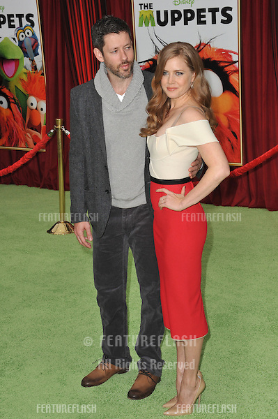"Amy Adams & husband Darren Le Gallo at the world premiere of her new movie ""The Muppets"" at the El Capitan Theatre, Hollywood..November 12, 2011  Los Angeles, CA.Picture: Paul Smith / Featureflash"