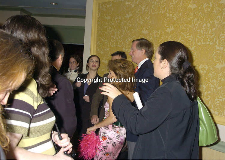 Susan Lucci and Helmet Huber ..at The New York Women in Film and Television 2004 Muse Awards Luncheon on Dec 16, 2004 at the New York Hilton Hotel. Lucci, Sweeney, Grant and Zea were honored. ..Photo by Robin Platzer, Twin Images