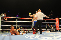 Travis Dickinson loses to Mustafa Chadlioui - Boxing at the Metro Radio Arena, Newcastle, promoted by Matchroom Sports - 04/04/15 - MANDATORY CREDIT: Steven White/TGSPHOTO - Self billing applies where appropriate - contact@tgsphoto.co.uk - NO UNPAID USE