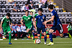 Minamino Takumi of Japan (2nd R) in action during the AFC Asian Cup UAE 2019 Group F match between Japan (JPN) and Turkmenistan (TKM) at Al Nahyan Stadium on 09 January 2019 in Abu Dhabi, United Arab Emirates. Photo by Marcio Rodrigo Machado / Power Sport Images