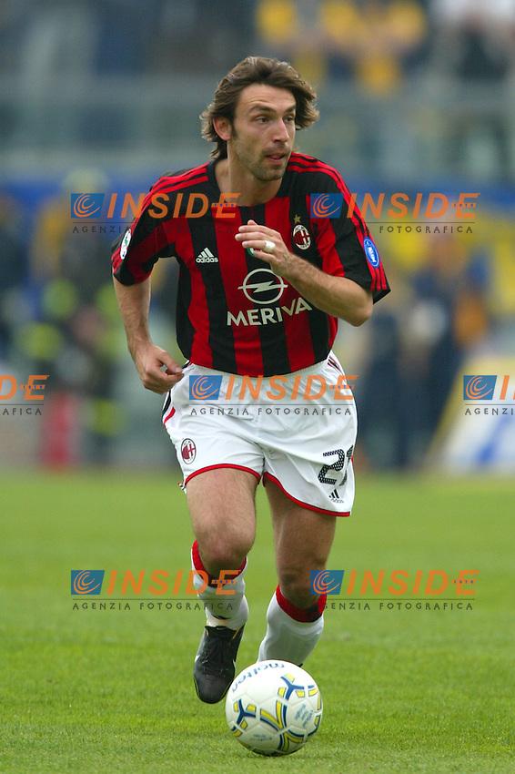 Modena 4/4/2004 Campionato Italiano Serie A 28a Giornata - Matchday 28<br /> Modena Milan 1-1<br /> Andrea Pirlo (Milan)<br /> Foto Andrea Staccioli Insidefoto