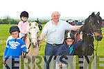 Trevor O?Sullivan, Ciara, Donie and Jack Geaney who participated in the Castleisland Horse Show on Sunday