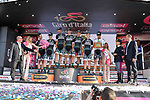 Bora-Hansgrohe team win the fair play prize at the end of Stage 21, the final stage of the 100th edition of the Giro d'Italia 2017, an individual time trial running 29.3km from Monza Autodrome to Milan Duomo, Italy. 28th May 2017.<br /> Picture: LaPresse/Gian Mattia D'Alberto | Cyclefile<br /> <br /> <br /> All photos usage must carry mandatory copyright credit (&copy; Cyclefile | LaPresse/Gian Mattia D'Alberto)