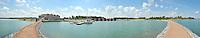 Eröffnung des Hotel Casa Marina am Störmthaler See im Ressort Lagovida - Panorama der Marina mit Hafenanlage und Hafenhäusern.   Foto: aif / Norman Rembarz<br /> <br /> Jegliche kommerzielle wie redaktionelle Nutzung ist honorar- und mehrwertsteuerpflichtig! Persönlichkeitsrechte sind zu wahren. Es wird keine Haftung übernommen bei Verletzung von Rechten Dritter. Autoren-Nennung gem. §13 UrhGes. wird verlangt. Weitergabe an Dritte nur nach  vorheriger Absprache. Online-Nutzung ist separat kostenpflichtig.