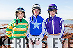 Pictured at Ballyheigue races on Sunday were Jockeys Donny Sheehy, Mikey Mulvihill, Daragh Maher