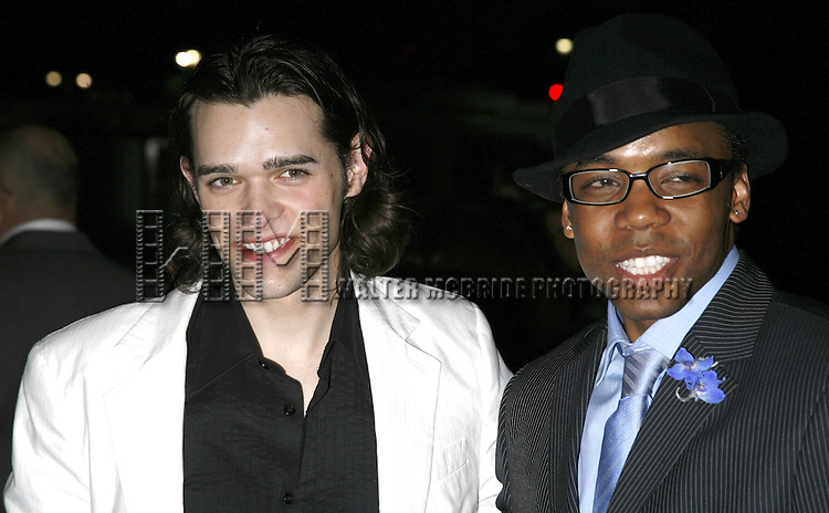 Chris Peluso and Tomar Wilson.attending the Opening Night of Warner Bros. Theatre Ventures' Inaugural production of LESTAT at the Palace Theatre with an after party at Time Warner Center in New York City. .April 25, 2006 .© Walter McBride/WM Photography