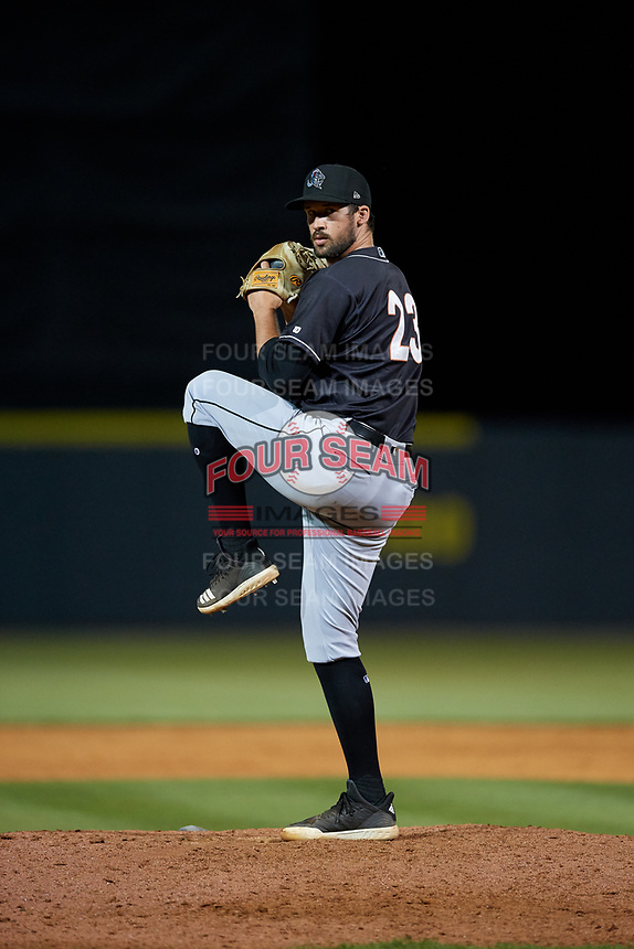 Jupiter Hammerheads relief pitcher Chad Smith (23) during a Florida State League game against the Florida Fire Frogs on April 8, 2019 at Osceola County Stadium in Kissimmee, Florida.  Florida defeated Jupiter 7-6 in ten innings.  (Mike Janes/Four Seam Images)