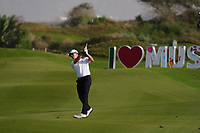 Brandon Stone (RSA) on the 2nd Play Off hole during Round 4 of the Oman Open 2020 at the Al Mouj Golf Club, Muscat, Oman . 01/03/2020<br /> Picture: Golffile | Thos Caffrey<br /> <br /> <br /> All photo usage must carry mandatory copyright credit (© Golffile | Thos Caffrey)