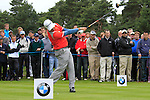 Felipe Aguilar (CHI) tees off on the 11th tee during Day 3 of the BMW PGA Championship Championship at, Wentworth Club, Surrey, England, 28th May 2011. (Photo Eoin Clarke/Golffile 2011)