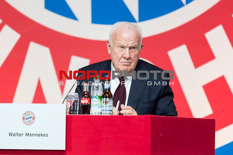 30.11.2018, Audi Dome, Muenchen, GER, FC Bayern Jahreshauptversammlung 2018, im Bild Walter Mennekes (Vizepraesident FCB)<br /> <br /> Foto © nordphoto / Straubmeier