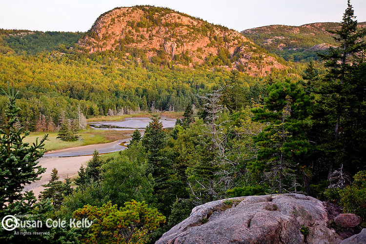 Acadia's Beehive Mountain at sunrise, Acadia National Park, ME, USA