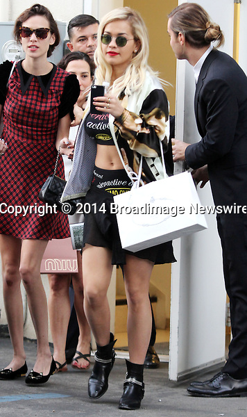 Pictured: Rita Ora<br /> Mandatory Credit &copy; Patron/Broadimage<br /> Rita Ora goes for a shopping spree in Beverly Hills<br /> <br /> 1/23/14, Beverly Hills, California, United States of America<br /> <br /> Broadimage Newswire<br /> Los Angeles 1+  (310) 301-1027<br /> New York      1+  (646) 827-9134<br /> sales@broadimage.com<br /> http://www.broadimage.com