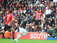 Burnley's Stephen Ward vies for possession with Southampton's Cedric Soares<br /> <br /> Photographer Kevin Barnes/CameraSport<br /> <br /> The Premier League - Southampton v Burnley - Sunday August 12th 2018 - St Mary's Stadium - Southampton<br /> <br /> World Copyright &copy; 2018 CameraSport. All rights reserved. 43 Linden Ave. Countesthorpe. Leicester. England. LE8 5PG - Tel: +44 (0) 116 277 4147 - admin@camerasport.com - www.camerasport.com