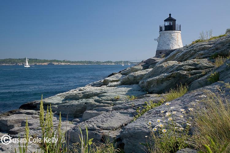 Castle Hill Light, Narragansett Bay, Newport,  RI, USA