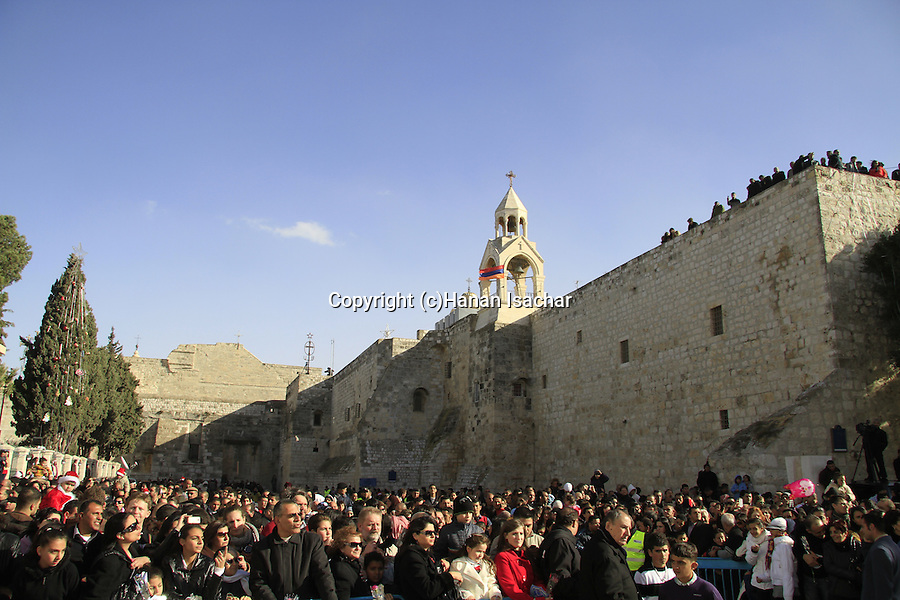 Bethlehem, Christmas celebration in Manger Square