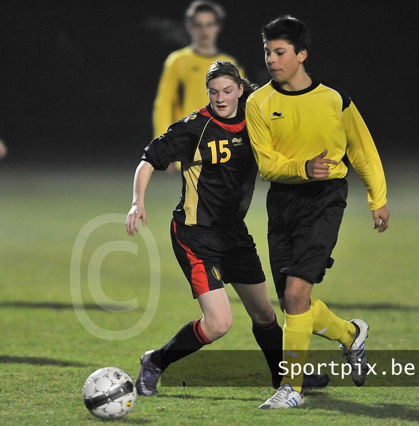 Belgium Dames U19 - selectie brabant jongens U15 :  Elke Van Gorp.foto DAVID CATRY / Vrouwenteam.be