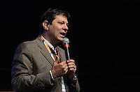 """SAO PAULO, 19 DE JULHO DE 2012 - ELEICOES 2012 HADDAD - O candidato a prefeito de São Paulo Fernando Hadadd (PT) em partipacao no painel """"Experiências Internacionais em Educação"""" no 4º Congresso Nacional Marista, com o tema """"Políticas Públicas de Educação no Brasil"""",no  Centro de Eventos e Convenções do Anhembi, regiao norte da capital, na manha desta quinta feira. FOTO: ALEXANDRE MOREIRA - BRAZIL PHOTO PRESS"""