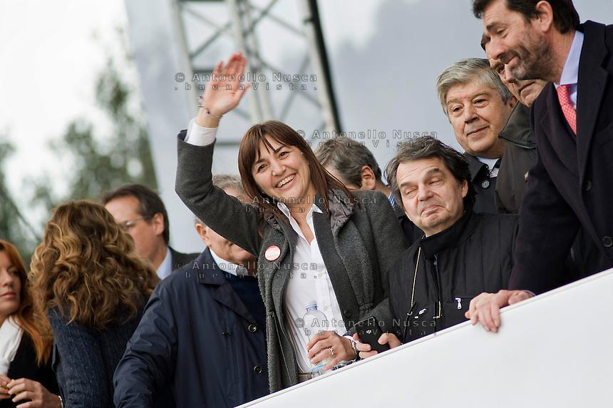 Roma, 20 Marzo, 2010. Renata Polverini ad una manifestazione del PDL.