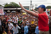 BOGOTA, Colombia. 2nd June 2014. Candidate and President, Juan Manuel Santos, speaks to supporters in Barranquilla. during his tour of the country for re-election in runoff. SANTOS Campaign/Juan José Horta / VIEWpress TO EDITORS : THIS PICTURE WAS PROVIDED BY A THIRD PARTY.  THIS PICTURE IS DISTRIBUTED EXACTLY AS RECEIVED BY VIEWpress, AS A SERVICE TO CLIENTS