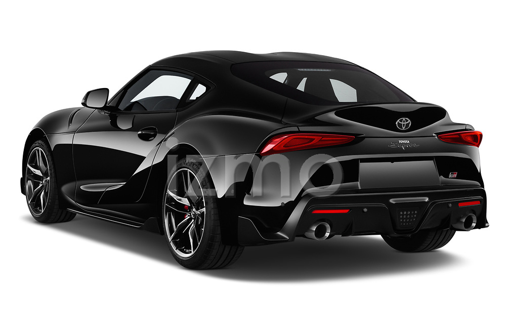 Car pictures of rear three quarter view of a 2019 Toyota GR-Supra Sport 2 Door Coupe angular rear