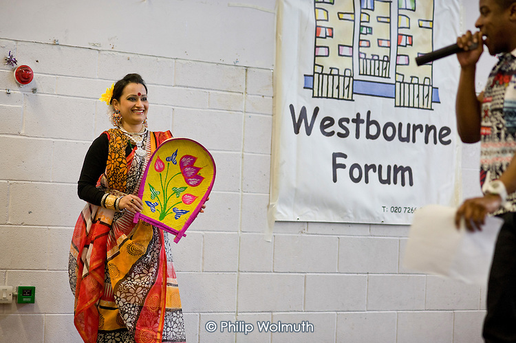 Indian traditional dance, Westbourne Forum International Day, Stowe Centre, Harrow Road, North Paddington.