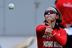 Natural Yip Sze Wan of Hong Kong in action during the ICC 2016 Women's World Cup Asia Qualifier match between Hong Kong vs Nepal on 09 October 2016 at the Tin Kwong Road Cricket Recreation Ground in Hong Kong, China. Photo by Marcio Machado / Power Sport Images