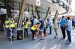 Stockholm 2014-05-24 Fotboll Superettan Hammarby IF - Varbergs BoIS FC  :  <br /> Publik blir visiterade i k&ouml;n p&aring; v&auml;g in till Tele2 Arena<br /> (Foto: Kenta J&ouml;nsson) Nyckelord:  Superettan Tele2 Arena HIF Bajen Varberg BoIS supporter fans publik supporters