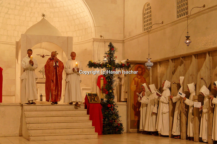 """La Croix Glorieuse"" holiday at the Monastery of the Sisters of Bethlehem of the Assumption of the Virgin and of Saint Bruno in Beth Gemal, Israel"