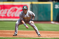 Baylor Bears catcher Matt Menard (23) takes his lead off of first base during Houston College Classic against the Hawaii Rainbow Warriors on March 6, 2015 at Minute Maid Park in Houston, Texas. Hawaii defeated Baylor 2-1. (Andrew Woolley/Four Seam Images)