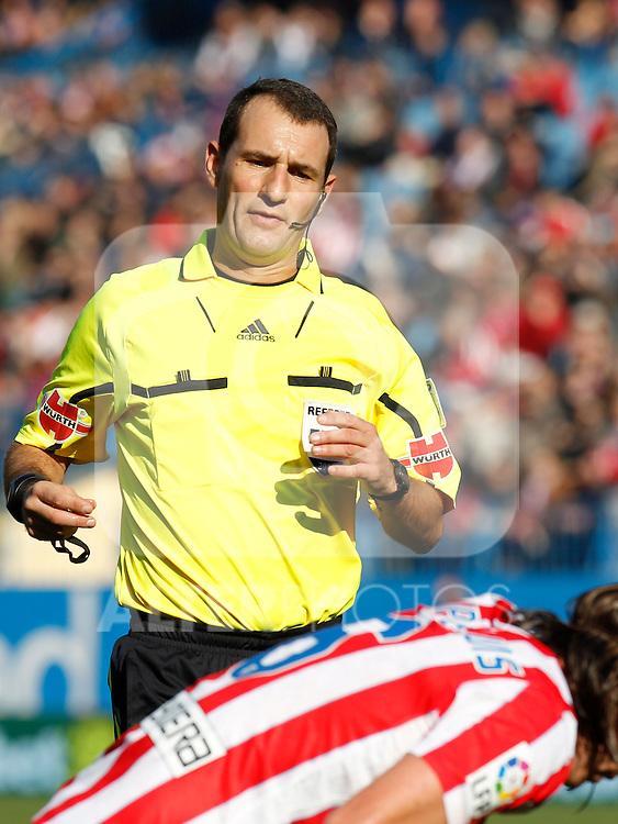 Madrid (04/12/2011).- Estadio Vicente Calderon..LIGA BBVA 15ª Jornada.Atletico de Madrid - Rayo Vallecano..Carlos Clos Gomez.......