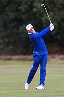 Julien Guerrier (FRA) on the 2nd fairway during Round 3 of the Sky Sports British Masters at Walton Heath Golf Club in Tadworth, Surrey, England on Saturday 13th Oct 2018.<br /> Picture:  Thos Caffrey | Golffile