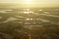 Deutschland, Hamburg, Hafen, Elbe, Dunst, Koehlbrand