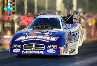 May 4, 2012; Commerce, GA, USA: NHRA funny car driver Matt Hagan during qualifying for the Southern Nationals at Atlanta Dragway. Mandatory Credit: Mark J. Rebilas-
