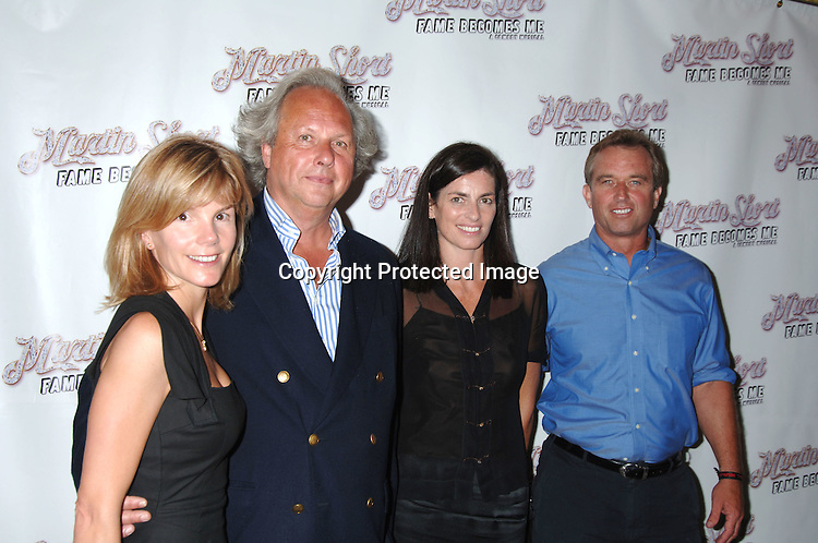 "Anna and Graydon Carter, Robert Kennedy, Jr and wife Mary..arriving for the Broadway Opening Night Party  of ""Martin Short: Fame Becomes Me"" on August 17, 2006 at The Tavern on The Green.  ..Robin Platzer. Twin Images"