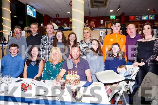 Colin Looney, Balloonagh Tralee, celebrates his 32nd birthday with family and friends at the Kingdom Greyhound Stadium on Saturday