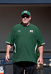 April 20, 2012:   University of Hawai'i Warrior head coach Bob Coolen against the Nevada Wolf Pack during their NCAA softball game played at Christina M. Hixson Softball Park on Friday in Reno, Nevada.