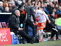 Blackpool's Manager Terry McPhillips looks on from the touchline<br /> <br /> Photographer David Shipman/CameraSport<br /> <br /> The EFL Sky Bet League One - Charlton Athletic v Blackpool - Saturday 16th February 2019 - The Valley - London<br /> <br /> World Copyright © 2019 CameraSport. All rights reserved. 43 Linden Ave. Countesthorpe. Leicester. England. LE8 5PG - Tel: +44 (0) 116 277 4147 - admin@camerasport.com - www.camerasport.com