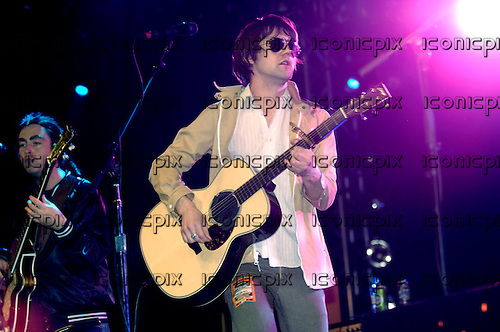 Conor Oberst & The Mystic Valley Band performing live on the NME/Radio 1 Stage on Day 3 of the 2008 Reading Festival in Reading UK -  24 Aug 2008.  Photo credit: George Chin/IconicPix