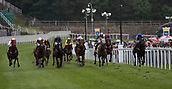 June 10th 2017, Chester Racecourse, Cheshire, England; Chester Races Horse racing; Franny Norton on Miss Ranger leads as they go into the final half furlong in the Crabbies Handicap Stakes