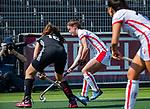 AMSTELVEEN -  Maud Renders (OR)   tijdens de hoofdklasse competitiewedstrijd hockey dames,  Amsterdam-Oranje Rood (5-2). COPYRIGHT KOEN SUYK