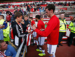Ben Heneghan of Sheffield Utd signs autographs during the Championship match at the Stadium of Light, Sunderland. Picture date 9th September 2017. Picture credit should read: Simon Bellis/Sportimage