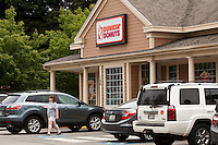 A Dunkin' Donuts restaurant is pictured in Maine, Sunday June 16, 2013. Dunkin' Donuts is an American global doughnut company and coffeehouse chain based in Canton, Massachusetts.