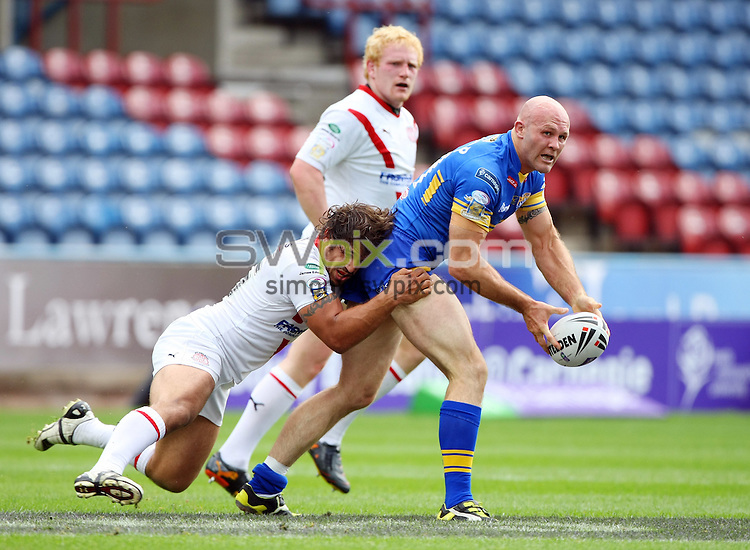 PICTURE BY VAUGHN RIDLEY/SWPIX.COM - Rugby League - Challenge Cup - Leeds v St Helens - Galpharm Stadium, Huddersfield, England - 07/08/10...Copyright - Simon Wilkinson - 07811267706...Leeds Keith Senior.