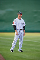 Jackson Generals manager J.R. House (22) during a game against the Chattanooga Lookouts on April 29, 2017 at The Ballpark at Jackson in Jackson, Tennessee.  Jackson defeated Chattanooga 7-4.  (Mike Janes/Four Seam Images)