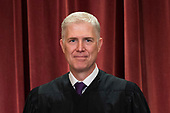 Associate Justice of the Supreme Court Neil M. Gorsuch poses during the official Supreme Court group portrait at the Supreme Court on November 30, 2018 in Washington, D.C. <br /> Credit: Kevin Dietsch / Pool via CNP