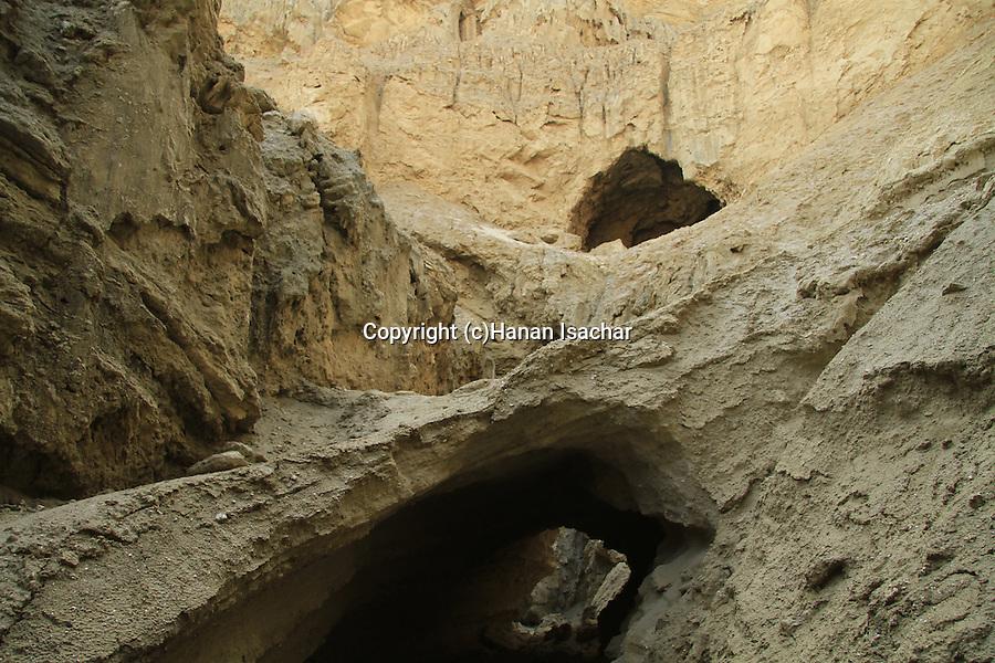 Israel, Dead Sea valley, Arubotaim Cave in Mount Sodom