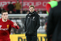Jurgen Klopp manager of Liverpool ahead of the Premier League match between Swansea City and Liverpool at the Liberty Stadium, Swansea, Wales on 22 January 2018. Photo by Mark Hawkins / PRiME Media Images.